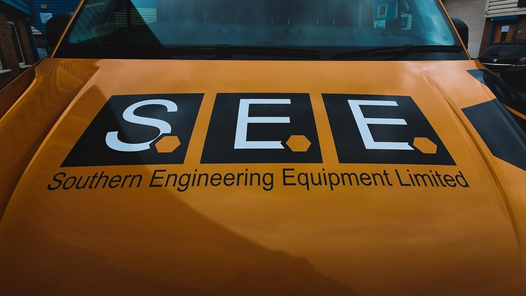Portfolio - Southern Engineering Equipment Ltd Bonnet of Van Wrap - Insignia Signs