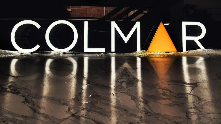 Portfolio - Colmar Construction Ltd Illuminated Sign - Insignia Signs