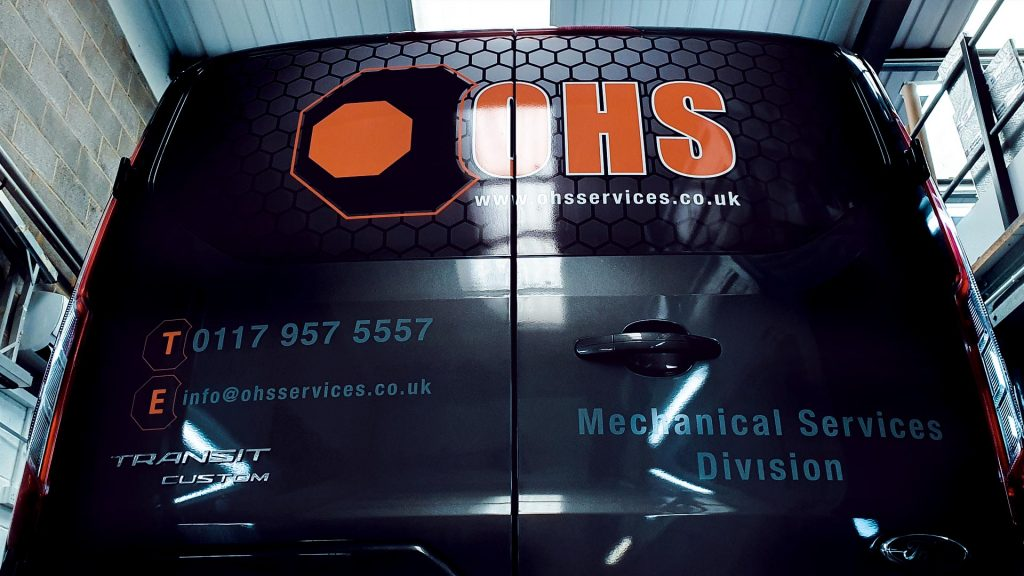 Portfolio - OHS Services Ltd Van Wrap Back - Insignia Signs
