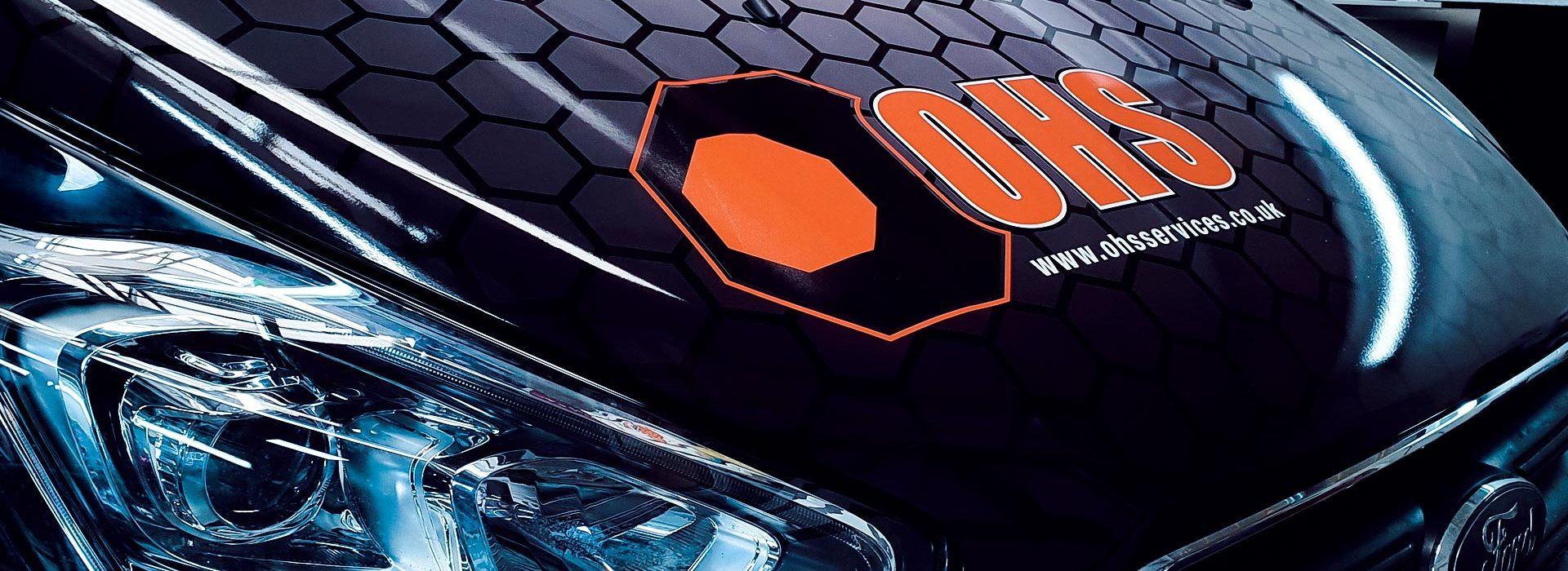Portfolio - OHS Services Ltd Van Wrap Front Bonnet - Insignia Signs