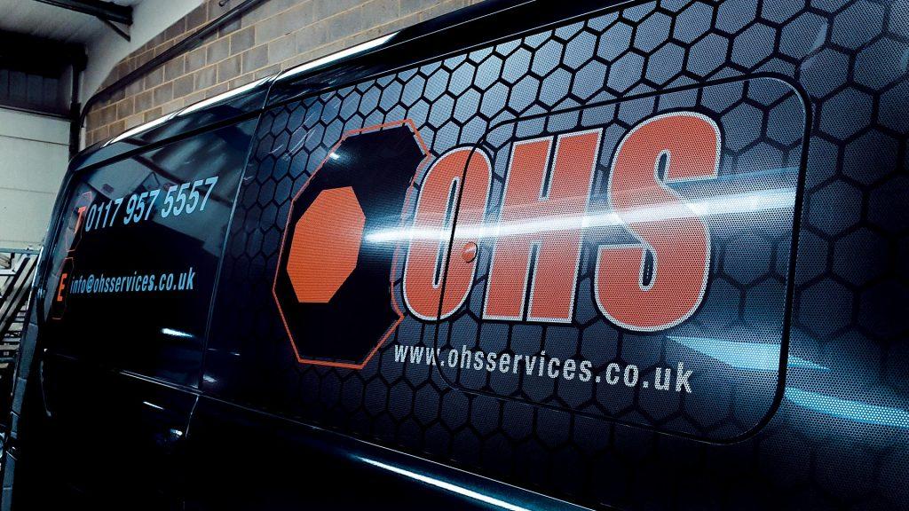 Portfolio - OHS Services Ltd Van Wrap Side - Insignia Signs