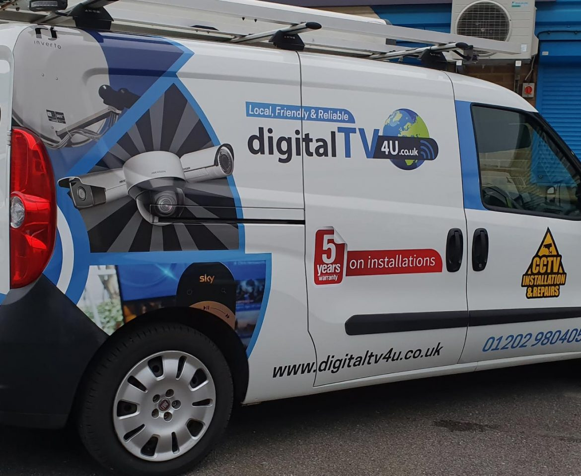 Digital TV 4 U Van Wrap - Insignia Signs Portfolio Poole Bournemouth