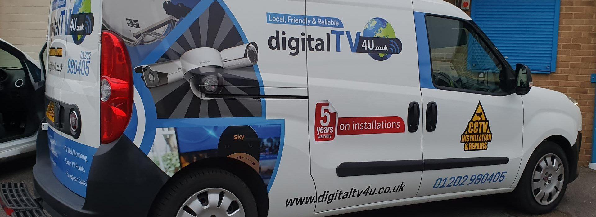 Digital TV 4 U Van Wrap - Insignia Signs Portfolio Poole Bournemouth