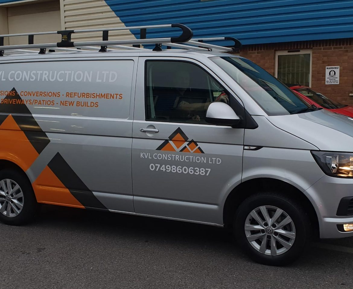 KVL Construction Ltd Van Wrap - Insignia Signs Portfolio Poole Bournemouth