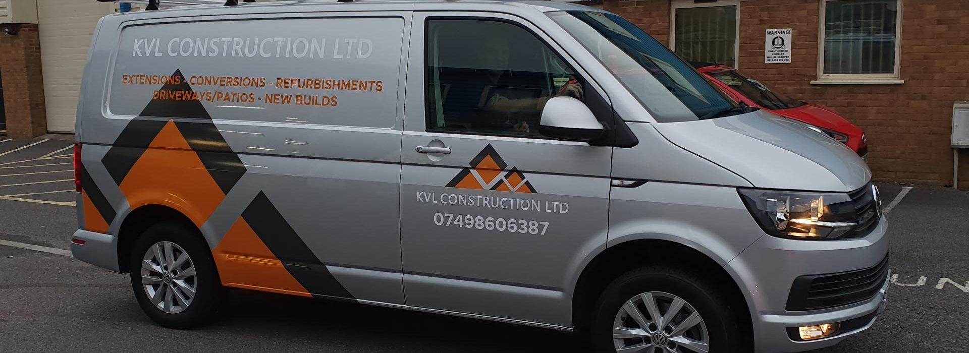 KVL Construction Ltd Van Wrap - Insignia Signs Portfolio Poole Bournemouth