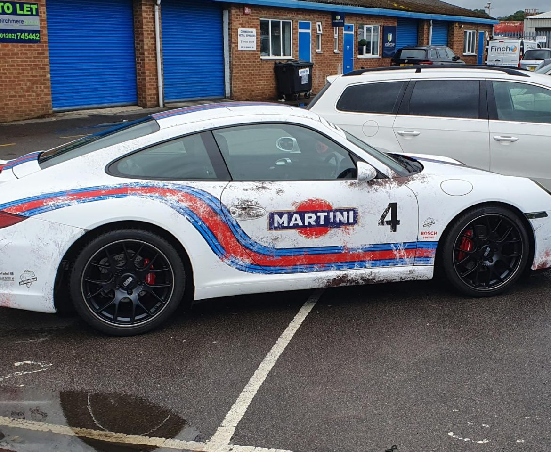 Martini Racing Sports Car Wrap - Insignia Signs Portfolio Poole Bournemouth