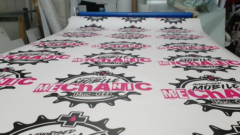 Muc-Off Authorised Mechanic Finished Print - Insignia Signs Portfolio Poole Bournemouth